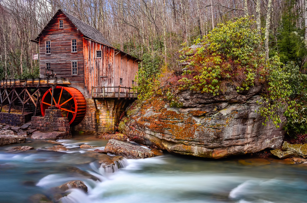 gristmill at Babcock state park in west virginia