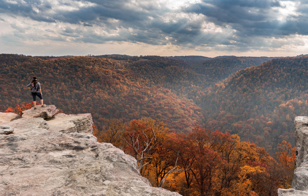 raven rock overlook in coopers rock state forest west virginia